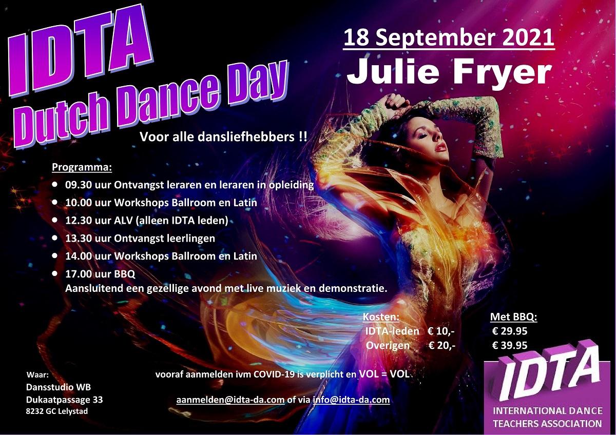 Programma IDTA Dutch Dance Day 2021