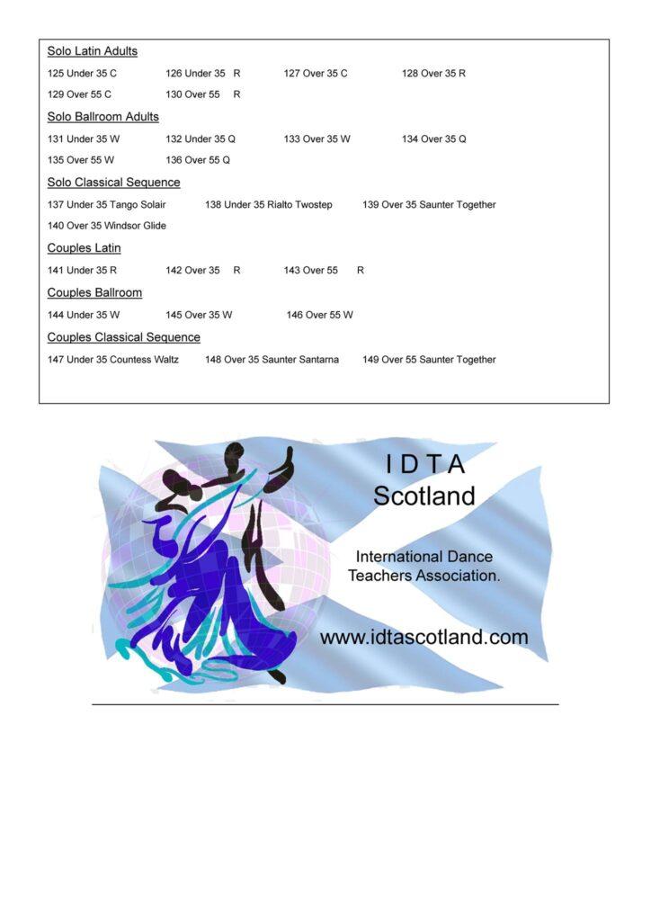 Programma IDTA Scotland International Online Medallist of the Year 2021, deel 3